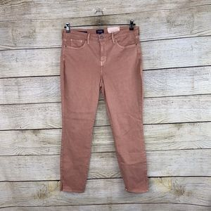 NEW NYDJ Ami Skinny Jeans Peach Brown Slit Jeans